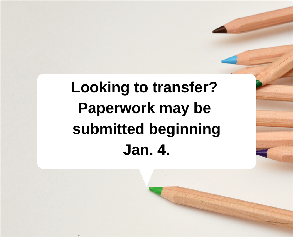 January is the priority transfer period for some students