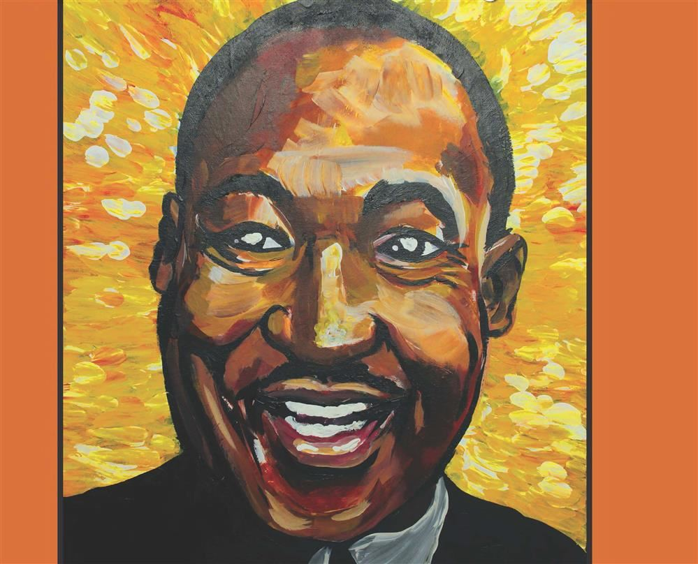 watercolor portrait of MLK Jr. by Brynna Hendrick