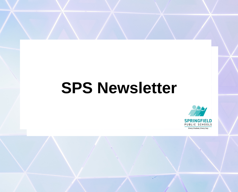 SPS newsletter typed in graphic