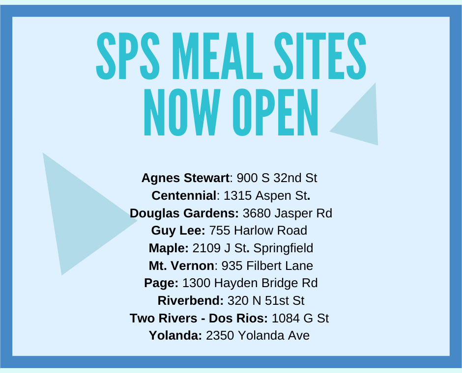 SPS meal sites now open