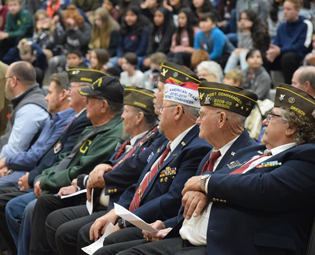 Veterans Day Assembly at HMS