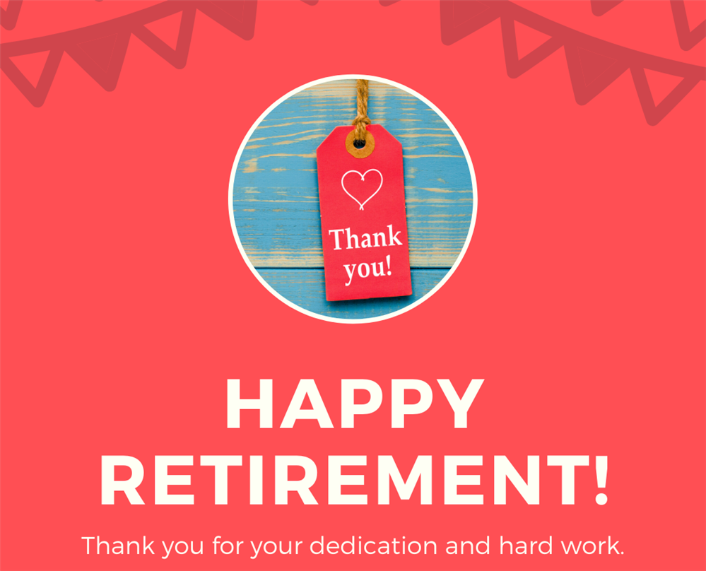 Happy retirement thank you note