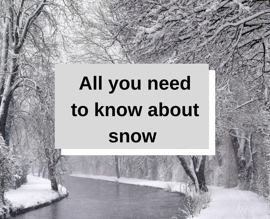Inclement weather reminders + where to get information